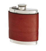 180ml Red Velvet Leather Captive Top Flask
