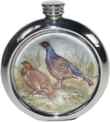 180ml Grouse Picture Flask