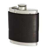 180ml Black Raven Leather Captive Top Flask