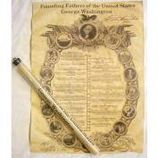 George Washington Aged Parchment