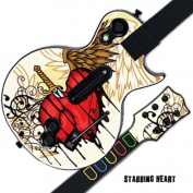 Mightyskins Protective Skin Decal Cover Sticker for GUITAR HERO 3 III PS3 Xbox 360 Les Paul - Stabbing Heart