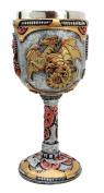 Atlantic Collectibles Steampunk Robotic Cyborg Dragon Fire Wheel Engine 150ml Wine Drink Goblet Chalice