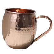 STREET CRAFT Authentic Handcrafted Moscow Mules Copper Mugs 100% Pure Copper Solid Moscow Mule Mug 710ml Extra Large Size No Lining Hammered Finish