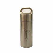 douperLtd Heavy Duty Solid STAINLESS STEEL Keychain Pill Fob Airtight Waterproof Pill Holders Outdoor Dry Box 1.5cm Diameter