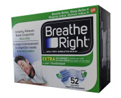 Breathe Right Extra Nasal Strip,(Clear), 52 Strips
