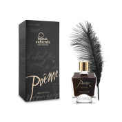 Bijoux Indiscrets 50 ml Dark Chocolate Poeme Body Paint with Feather Sexy Gift