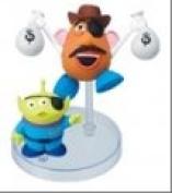 Takara Tomy Disney Pixar Toy Story *Western Battle* Character Figure ~7.6cm - Mr. Potato Head & Green Aliens