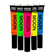 Moon Glow - Neon UV Mascara 15ml Set of 5 colours - Glows brightly under UV Lighting!
