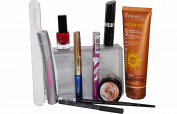 10pc Max Factor, Bourjois, Rimmel & Loreal Glitter Blue Black & Red Makeup & Faketan Giftset