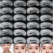 Lalang Reusable Eyebrow Shaping Stencils Set Grooming Brow Make Up Kit Tool Template