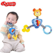LALABABY Baby Toys Bear Car BB Device Swing Ring Colour Soft Bell Rattle Toys