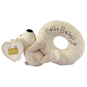 BOOFLE PLUSH RATTLE TOY BABY RING GIFT BEAR BABIES CHRISTENING PRESENT NEW XMAS