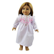 ZITA Doll Clothes - Nightsuit White Dress Clothes Fits American Girl Doll, My Life Doll, Our Generation and other 46cm Dolls by ZITA ELEMENT