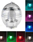 SSBY 7 Colours Changing Waterproof Rainbow Pool Solar Floating LED Light Lamp Ball