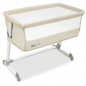 Co-Sleeping Cot, With Anchor to Bed, 6 Heights, Beige