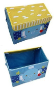 GMMH Children's Toy Box with Elephant Embroidery Home Furniture