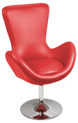 Febland Bucket Racing Chair, Faux Leather, Red