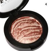 ROMANTIC BEAR Face Makeup Blush Blusher Pressed Powder Palette Set Box Cosmetic Brush 6Colors