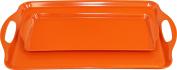 Calypso Basics Rectangular and Tidbit Serving Tray Set, Orange