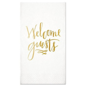 """""""Welcome Guest"""" Paper Guest Towel Napkins 