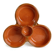Mexican Clay Triple Appetiser Bowl