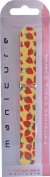 Beauty Double Sided Funky Nailcare Patterned Emery Boards Nail File Pack Of 6