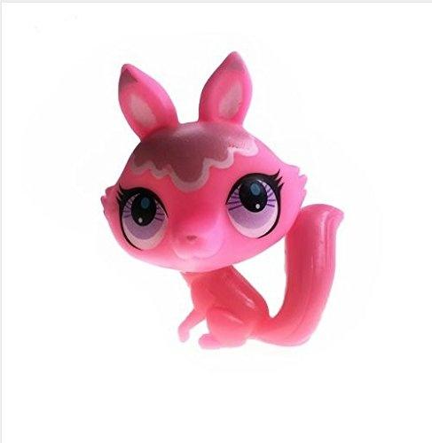 Express 1Pcs 6CM Littlest Pet Shop Pink Colour Fox Animal Toy Kids