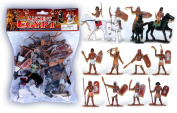 Plastic Toy Soldiers Ancient Egyptian Infantry Ancient Egypt Figures Painted Set 1/32 Scale 16 Pieces by Sunjade