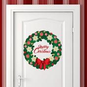 "Wallflexi Christmas Decorations Wall Stickers "" Merry Christmas Garland "" Wall Murals Decals living Room Children Nursery School Restaurant Cafe Hotel Home Décor, multicolour"