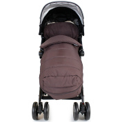 XXL Large Luxury Foot-muff And Liner For Maclaren Techno XT - Hot Chocolate