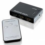 CSL - Full HD 3 Port HDMI Switch / distributor   Automatic switch / 3 Port   3D Ready / 1080p   incl remote control