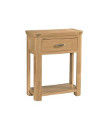 Crescent Curve Solid Oak 1 Drawer Console Table / Contemporary Console Table Fully Assembled