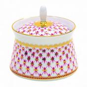 Lomonosov Porcelain Sugar Bowl Youth Red Net Blues 6.8 oz/200 ml