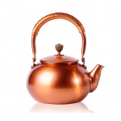 CHANMOL 1.4l. BPA Free Red Copper Tea Kettle Stove Top Coil Handle for Kitchen Home Gifts, Gold