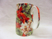 Christmas poinsettia design medium size china pitcher jug made for the Abbeydale collection.