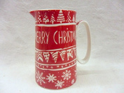 Christmas bunting design medium size china pitcher jug made for the Abbeydale collection.
