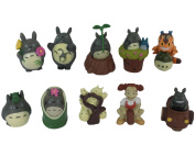 New Design My Neighbour Totoro/Cat bus etc Cute Studio Ghibli miniature figurines Set of 10 Refined Bauble Toy Playthings