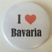 I Love (Heart) Bavaria 59mm Mirror On Rear