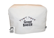 CozyCoverUp® Food Mixer Dust Cover for Kenwood Chef Classic White Embroidered GREAT BAKER!