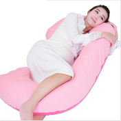Total Body Pillow with Jersey Cover - The World's Most Comfortable Maternity / Pregnancy cushion - With Zipper - Full Contoured Snuggle Support System, Pink