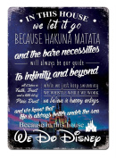 This House we do Disney V2 CASTLE Metal Wall Sign Plaque Wall Art Inspirational