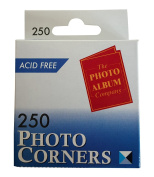 The Photo Album Company Dispenser Box with 250 Photograph Photo Corner - Clear PACK OF 3