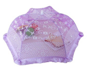 Purple Elegant Lace Foldable Food Covers Plate Covers Tent