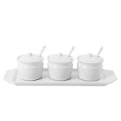 Everyday White by Fitz and Floyd 10-Piece Condiment Set
