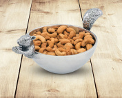 Arthur Court Nut Bowl, Squirrel Head and Tail, Small