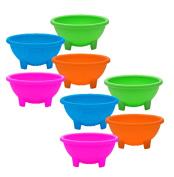 Set of 8 Multi Colour Black Duck Brand 11cm Diameter Salsa Bowls - Serving Bowls - Dipping Bowls