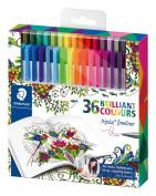 Staedtler Johanna Basford Triplus Fineliner Pens for Adult Colouring Books