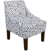 Skyline Furniture Swoop Arm Chair, Togo Black And White