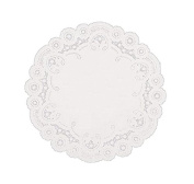 SafePro 4LD, 10cm White Round Lace Paper Doilies, Doily Table Covers, Wedding Tea Desserts Tableware Decoration