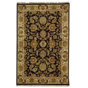 Safavieh Dynasty Collection DY239A Hand-Knotted Cola and Beige Premium Wool Area Rug